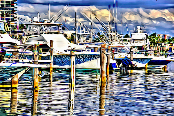 Shades Of Blues In Ft Lauderdale by Alice Gipson